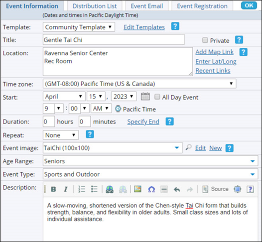 Trumba Help Trumba Help Implementation Guide Templates Fields